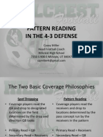 Pattern Reading by teh defensive secondary