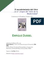 Epistemologiascriticas.files.wordpress.com 2011 06 Dussel Enrique 1492 El Encubrimiento Del Otro Hacia El Origen Del Mito de La Modernidad