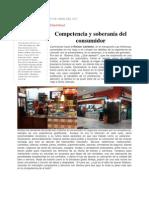 Competencia y Soberanía del Consumidor