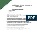 Antimicrobianos Usados en Procesos Infecciosos en Ginecología