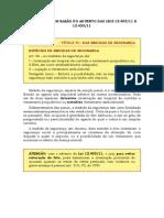 CP 2011 EM RAZÃO DO ADVENTO DAS LEI  12403-11 E 12433-11