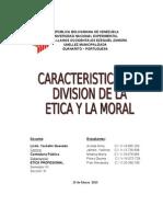 Caracteristicas de La Etica
