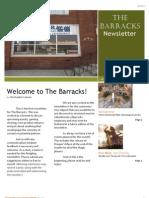 Barracks April Newsletter