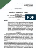 BABU e PRAKASH (1995) - Efficiency of Silica Fume in Concrete