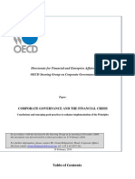 Oecd - Corporate Governance and the Financial Crisis