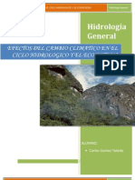 Efectos Del Cambio Climatico en El Ciclo Hidrologico y El Ecosistema (1)