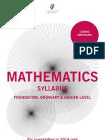 leaving certificate maths syllabus