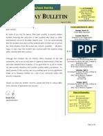 HS Friday Bulletin 03.27.09