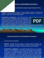 EJERCICIOS BÁSICOS EN EL ENTRENAMIENTO AUTÓGENO  1