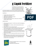 Brewing Liquid Fertilizer