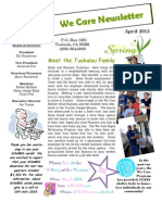 We Care Newsletter - April 2013