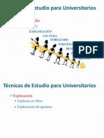 TÉCNICAS DE ESTUDIOS PARA UNIVERSITARIOS - CONSEJOS