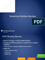 Versioning Workflow Services