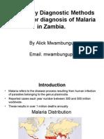 Malaria Diagnosis in Zambia