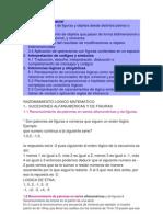 Tabla 3 Contenidos Tematicos de Exani-II de Seleccion Razonamiento Logico Matematico