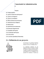 Modulo II. Conociendo La Administracion de Proyectos