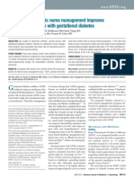 maternal diabetic management nursing