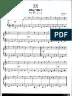 Suzuki Piano School Volume 1-Allegretto 1