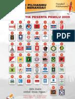 Poster Partai Peserta Pemilu 2009