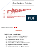 Java Script Introduction to Scripting - notes