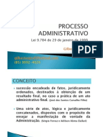 PROCESSO ADMINISTRATIVO - PRINCÍPIOS