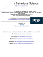 Mercadotecnia the Effects of Political Advertising on Young Voters