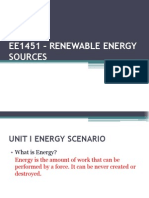 EE1451 – RENEWABLE ENERGY SOURCES