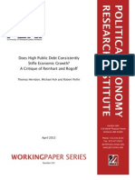 T. Herndon, M. Asch, R. Pollin - Does High Public Debt Consistently Stifle Economic Growth. a Critique of Reinhart and Rogoff