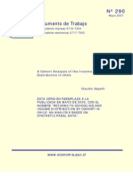 A Cohort Analysis of the Income Distribution in Chile