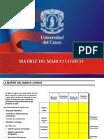 Matriz de Marco Logico Unicauca