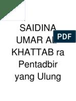 Biodata Umar Al-khattab