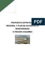 Estrategia Biodiverdidad IV Region, Coquimbo