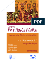 Programa - Fe y Razoìn Puìblica 2013