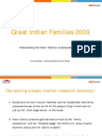 Indian Families as Consumers - JuxtConsult 2009 Snapshot
