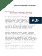 Ricardo Piglia 3 Propuestas y 5 Dificultades