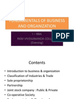 Fundamentals of Business and Organization