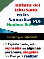 El Bautismo Del Espiritu a Los Judios y Samaritanos