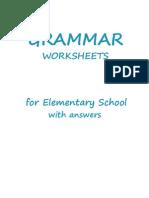 Elementary Grammar Worksheets - 74p