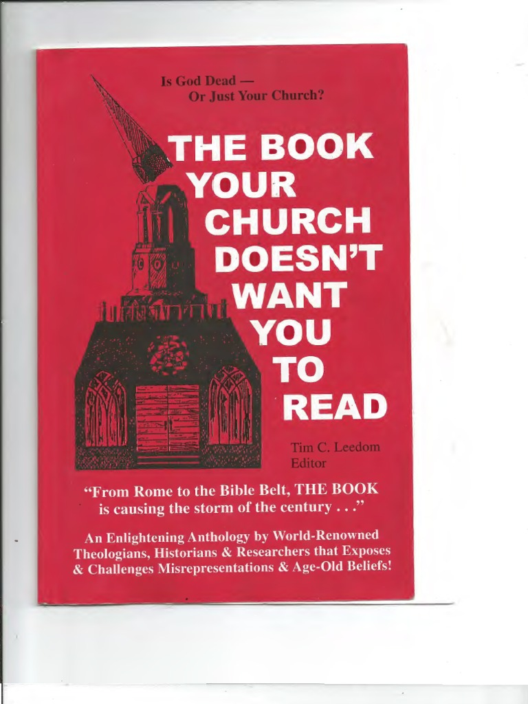 The Book Your Church Doesnt Want You To Read