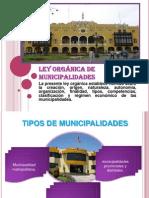 LEY ORGÁNICA DE MUNICIPALIDADES (1)