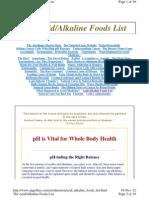Alkalizing Food