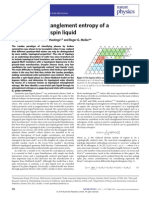 Topological Entanglement Entropy of a Bose-Hubbard Spin Liquid