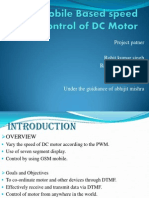 Gsm Mobile Based Speed Control of DC Motor