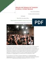Acta de constitución del Gobierno de Transición Democrática y Unidad Nacional