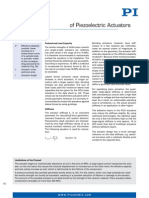 Piezo Actuator Forces Stiffness Notes