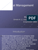Total Cost Management Ppt