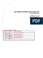 TestCase Template