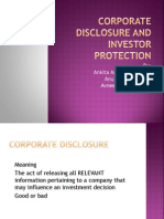 Corporate Disclosure and Investor Protection