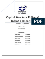 Capital Structure Policy_Large Cap_Indian Companies