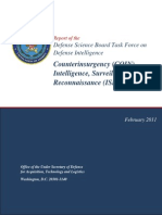 Defense Science Board Task Force on Defense Intelligence, Counterinsurgency  (COIN) Intelligence, Surveillance, and Reconnaissance (ISR) Operations, 2011